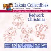 Redwork Christmas - Dakota Collectibles Embroidery Design Collection