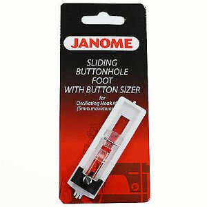 Janome Sliding Buttonhole Foot With Button Sizer#200134000