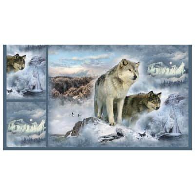 Hoffman Wolves Digital Cuddle Panel
