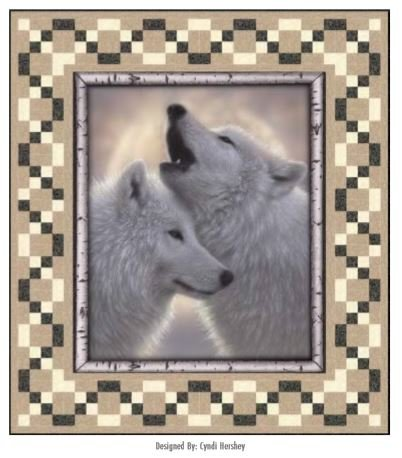 Wavelength (Wolf Panel) Quilt Kit