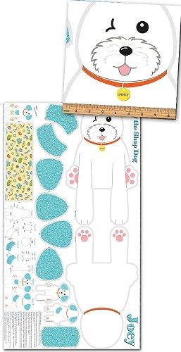Joey the Shop Dog Stuffed Animal 1444-24 5/8 yd panel