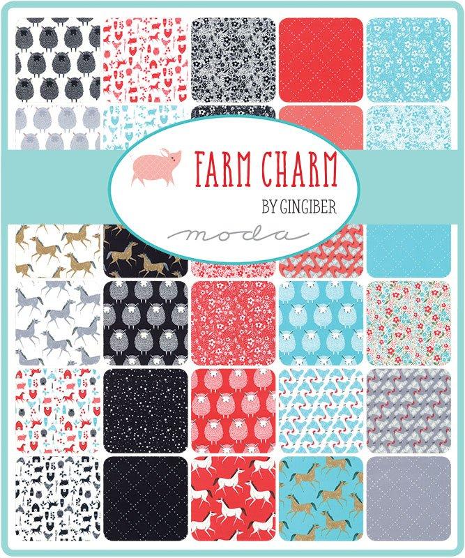 Farm Charm 48290-FQPB Fat Quarter Bundle w/Multi Panel