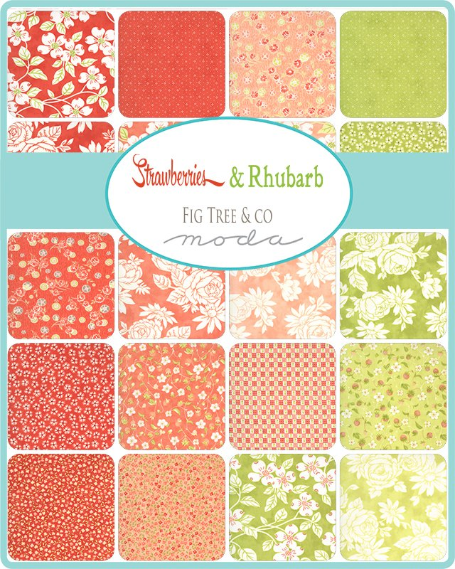 PRE-ORDER Strawberries & Rhubarb 20400-FQB (40) Fat Quarter Bundle