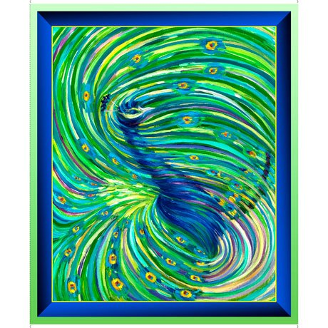 Artworks XI 26985-X Ombre Peacock Panel