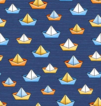 Quackers 27057-N Sailboats Navy