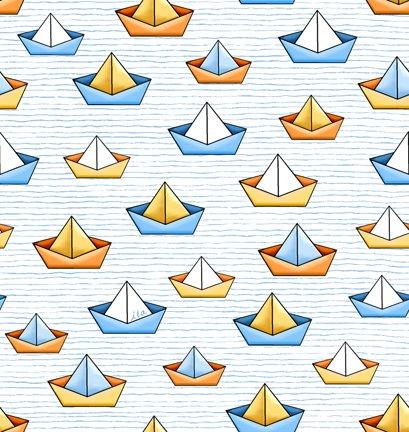Quackers 27057-Z Sailboats White
