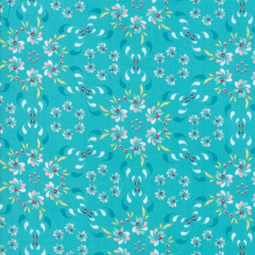 Coledale Floral Wreath Turquoise 47520-16