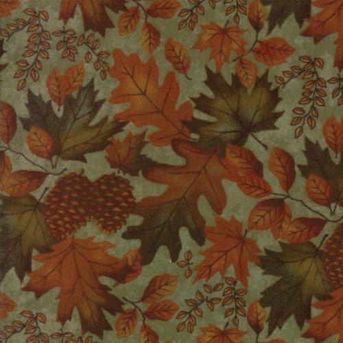 Fall Impressions Flannel 6701-18F