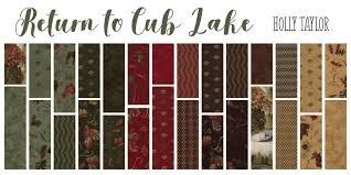 Return to Cub Lake Flannel RCLF-FQB Fat Quarter Bundle