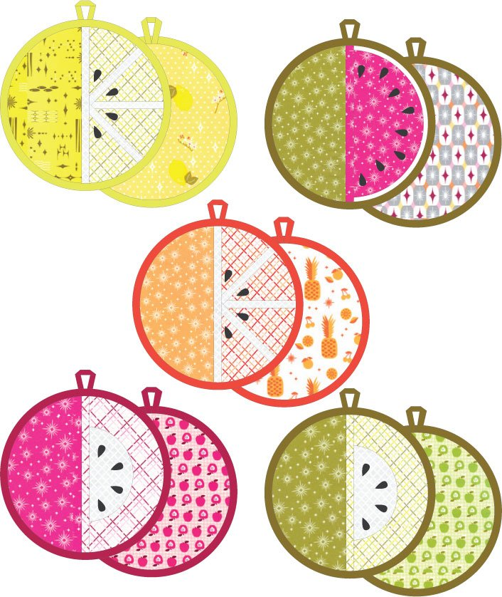 Fruit Slice Pot Holders VC-031