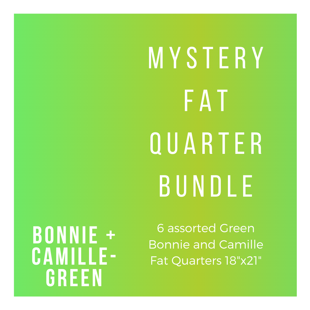B+C BC-6-FQBG 6 Green Fat Quarters