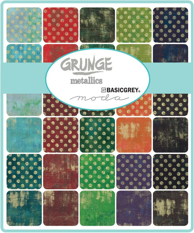 PRE-ORDER Grunge Metallic 30150-FQBM Fat Quarter Bundle