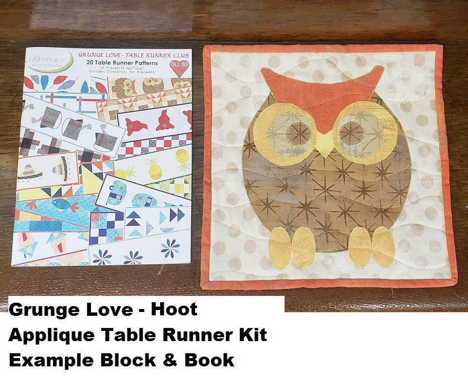 Grunge Love Hoot Applique Kit