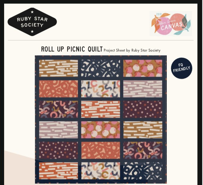 PRE-ORDER Roll Up Picnic Quilt Project PSRS5022-1