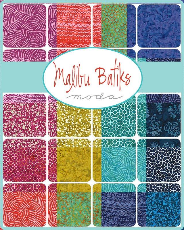 PRE-ORDER Malibu Batiks 4357-FQB Fat Quarter Bundle