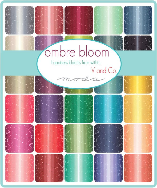PRE-ORDER Ombre Bloom 10870-FQB Fat Quarter Bundle