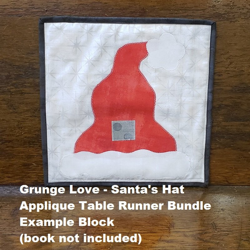 Grunge Love Santa's Hat Applique Bundle