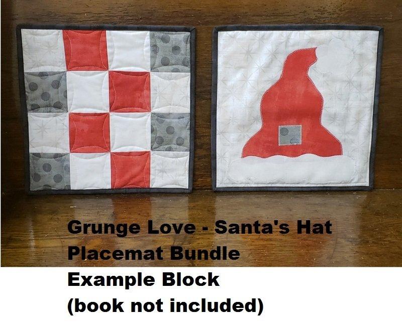Grunge Love Santa's Hat Placemat Bundle