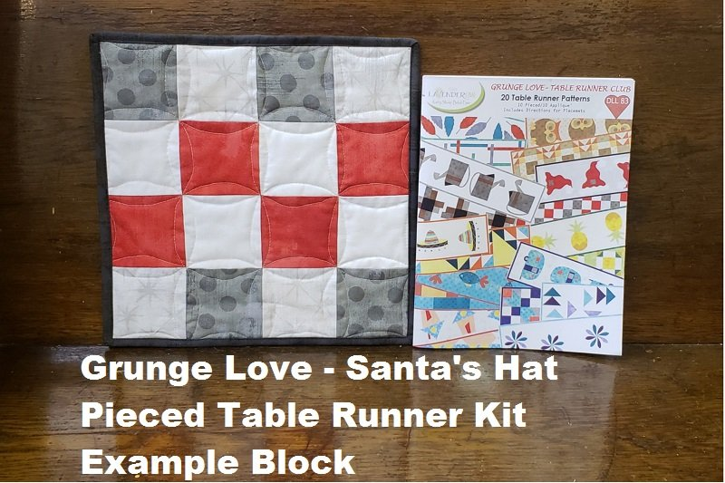 Grunge Love Santa's Hat Pieced Kit