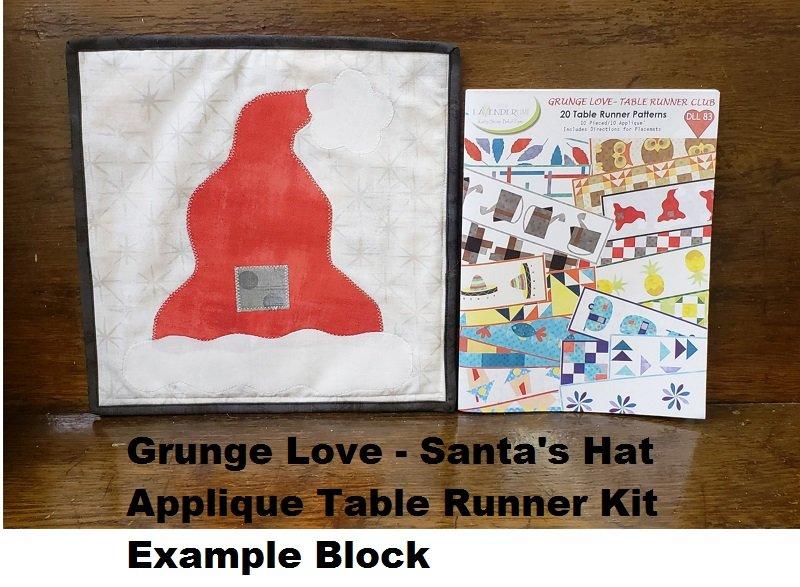 Grunge Love Santa's Hat Applique Kit
