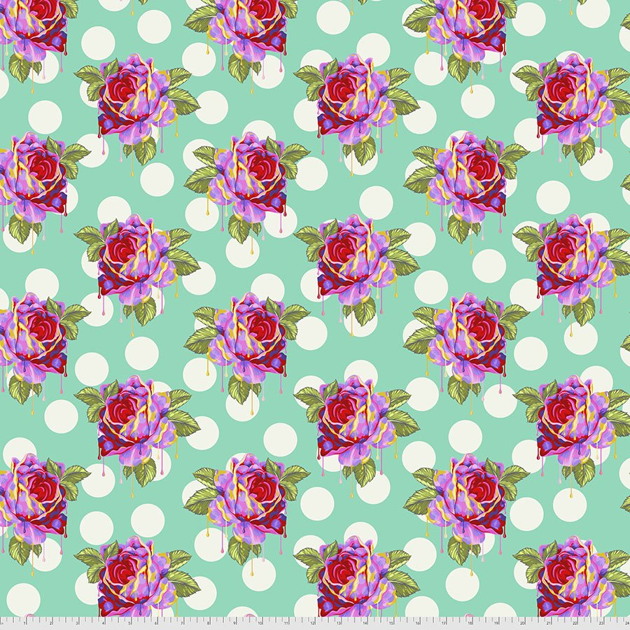 Curiouser & Curiouser PWTP161.Wonder Painted Roses Blue
