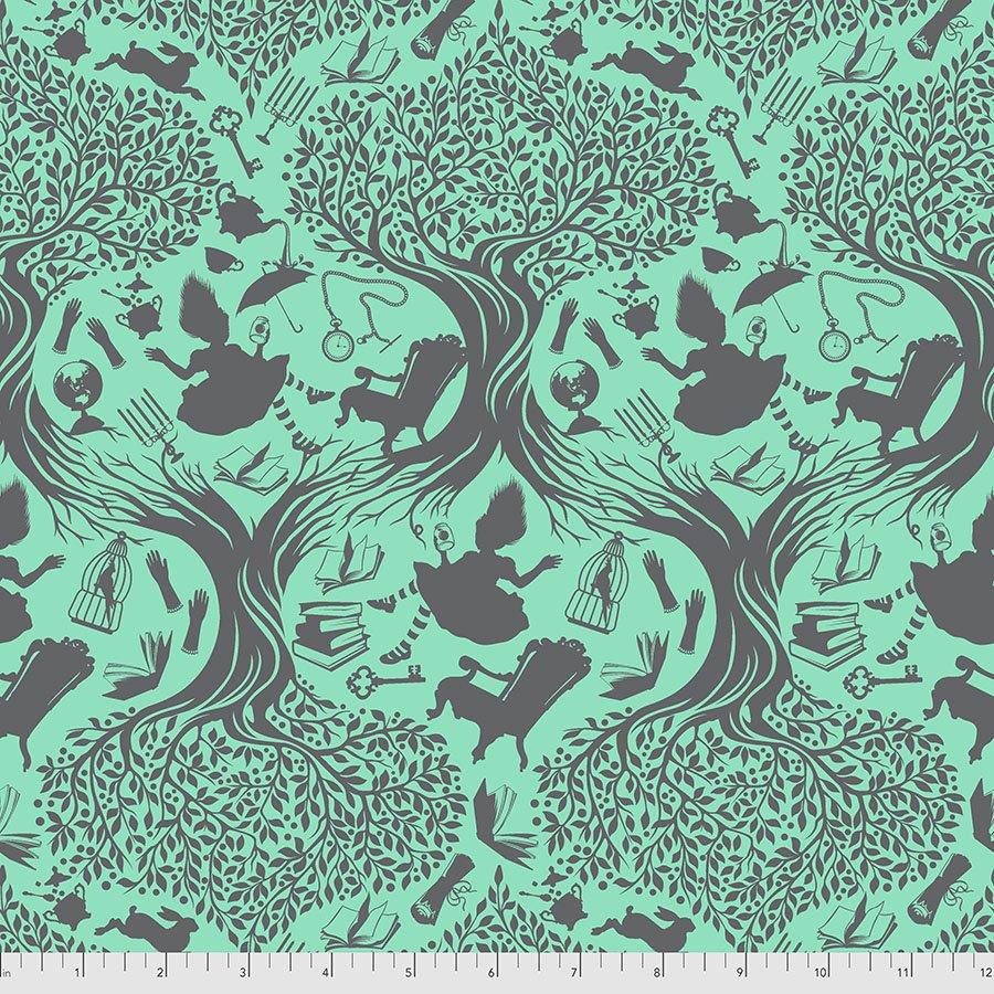 Curiouser & Curiouser PWTP166.Daydream Down the Rabbitt Hole Aqua
