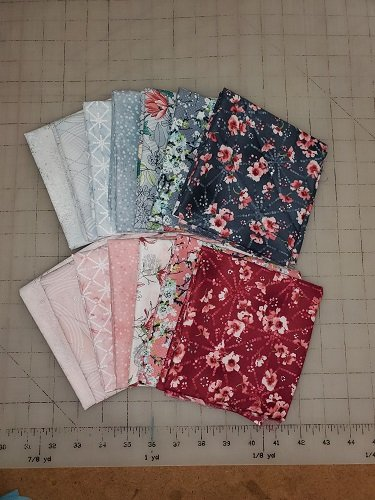 Serene Spring Pink/Grey Fat Quarter Bundle SSPGFQB