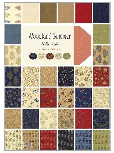 Woodland Summer Prints Dark Beige Panel/Fat Quarter Bundle WSDB