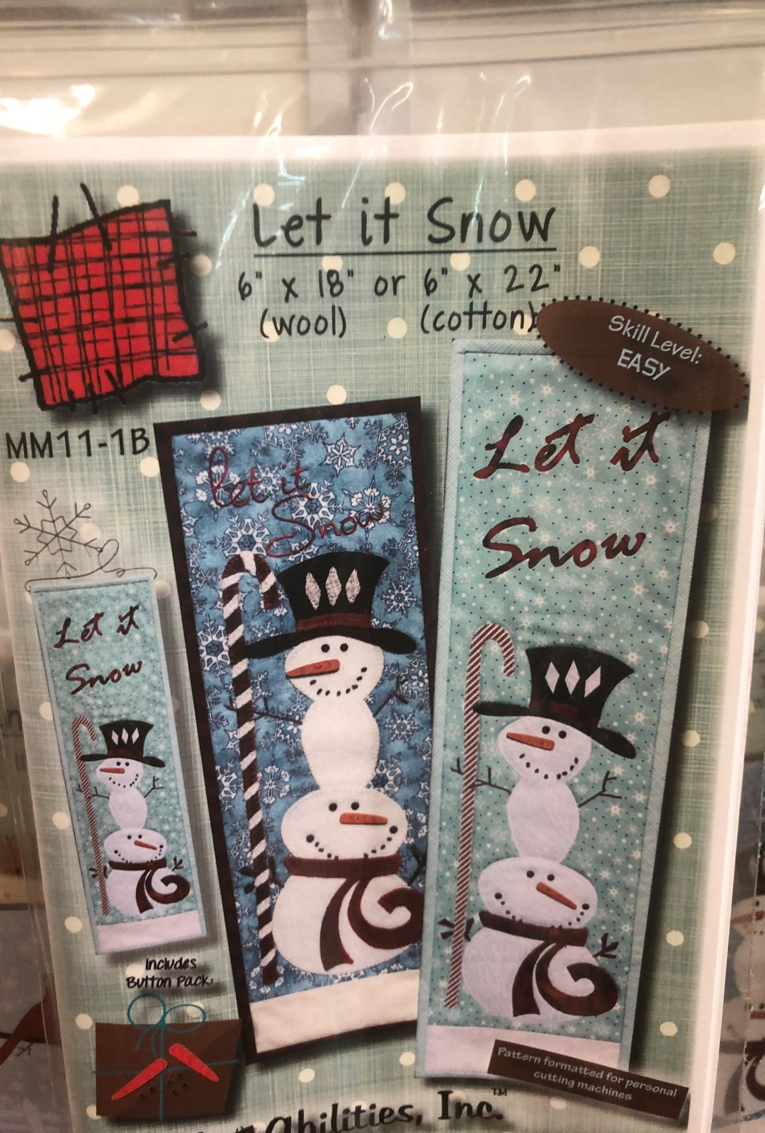 Let it Snow with buttons