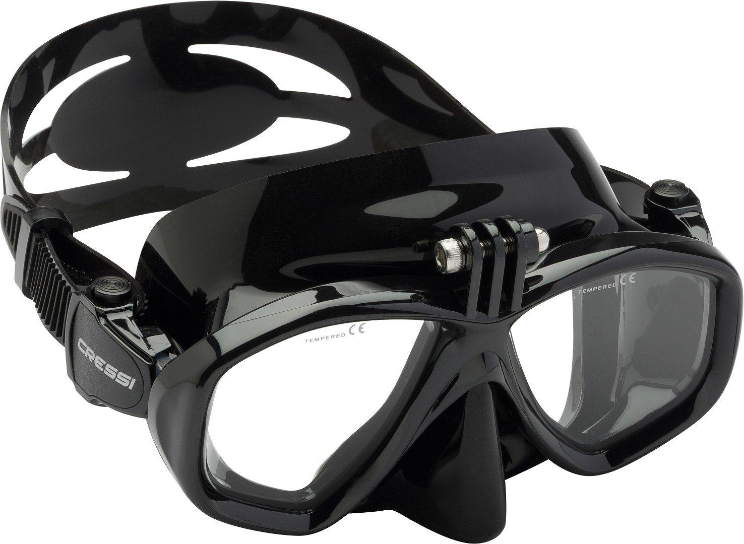 Cressi Action Mask (with GoPro Mount) - Black