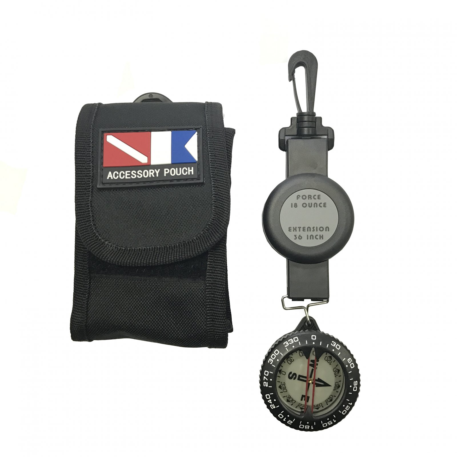 Compass with Retractor and Pouch