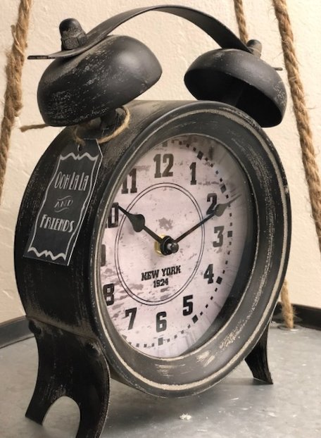 Table Clock Black