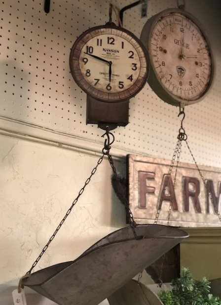 Produce Hanging Scale Clock