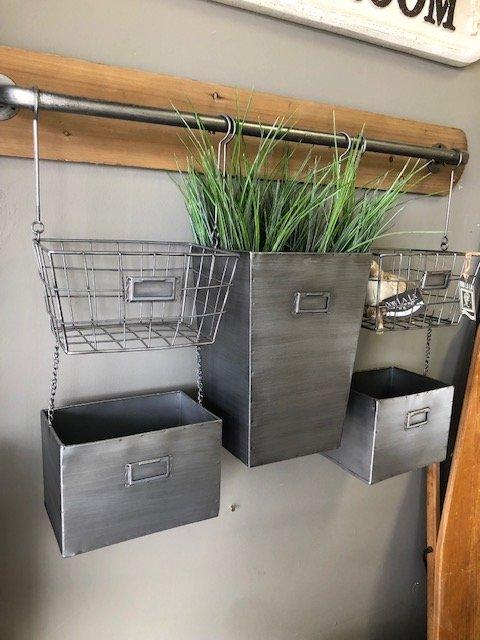 Metal & Wood Wall Storage