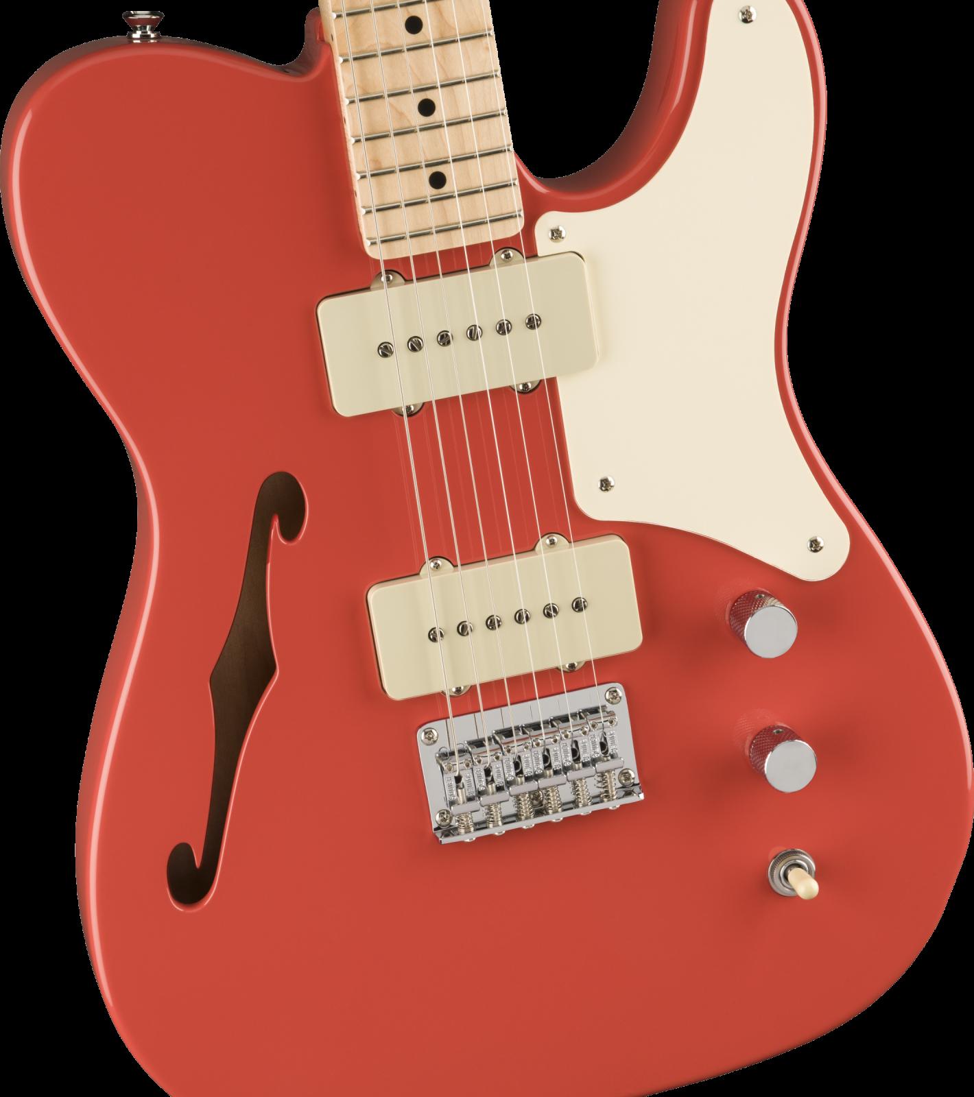 Squier Paranormal Cabronita Telecaster Thinline - Fiesta Red