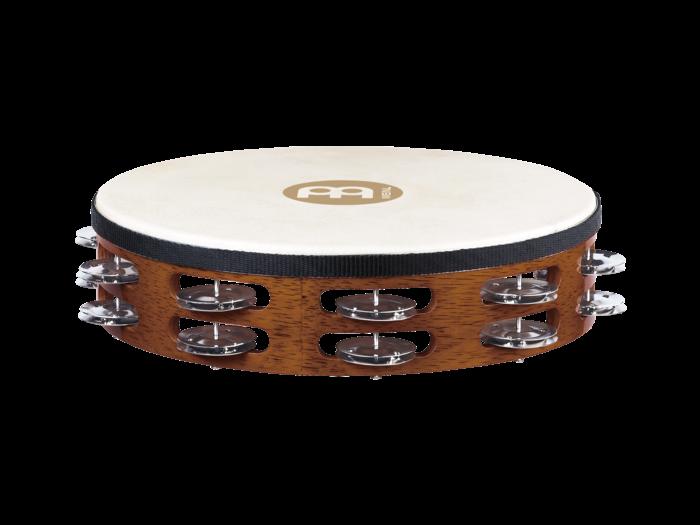 Meinl TAH2AB Headed Tambourine Steel Jingles - African Brown