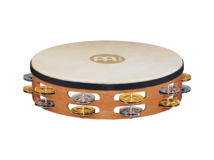 Meinl TAH2M-SNT Headed Tambourine Dual Alloy Jingles - Super Natural