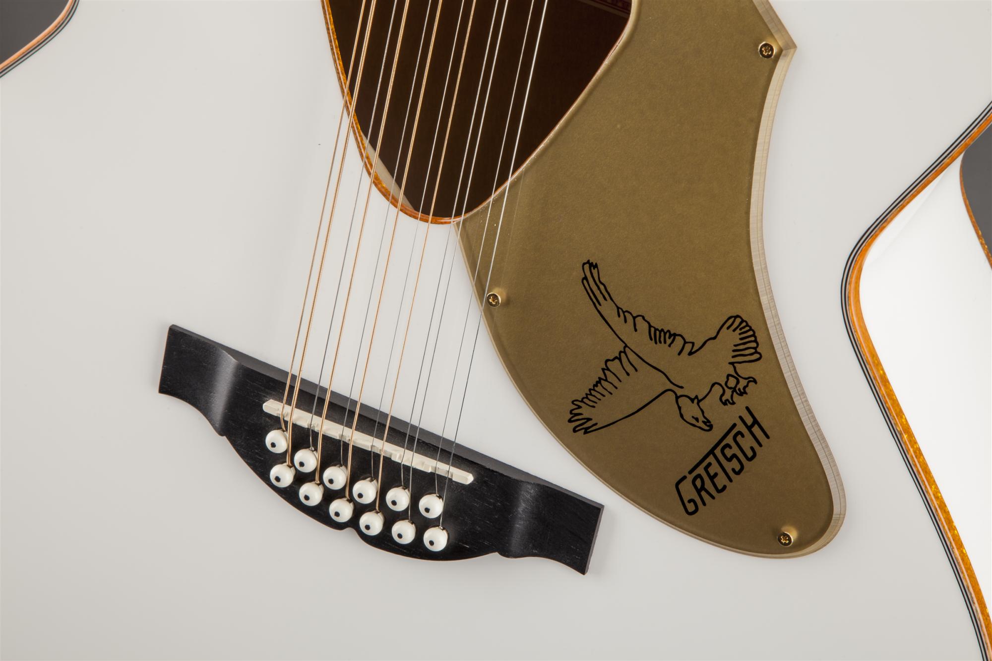 Gretsch G5022CWFE-12 Rancher Falcon Jumbo - White
