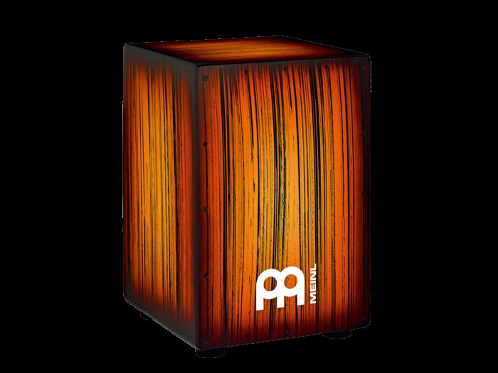 Meinl HCAJ2AMTS Headliner Designer Series String Cajon Tiger Striped Amber