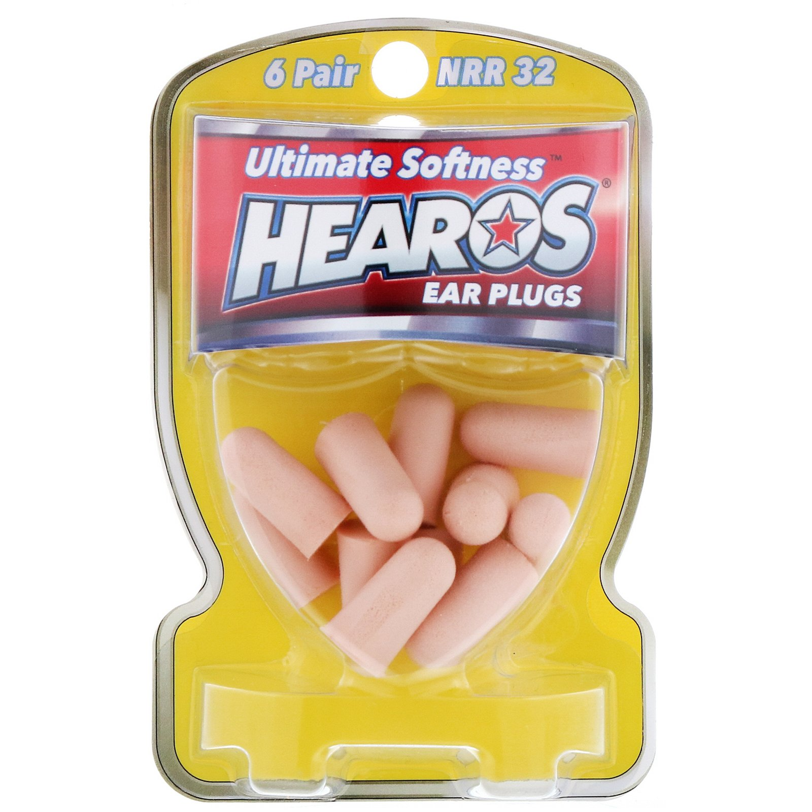 Hearos NRR32  Ultimate Softness Ear Plugs   6 Pair