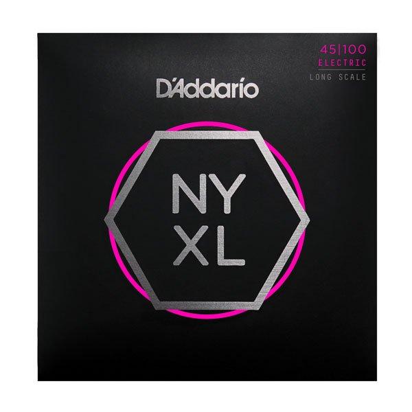 D'Addario NYXL45100 Nickel Wound Bass Guitar Strings, Regular Light, 45-100, Lon...