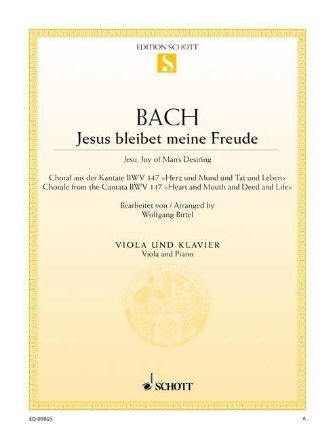 Jesu, Joy of Man's Desiring Viola and Piano