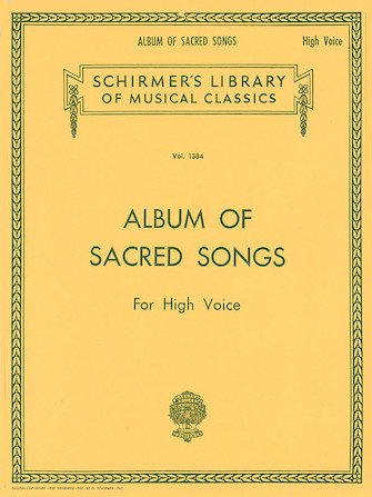 Album Of Sacred Songs For High Voice