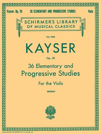 Kayser  36 Elementary and Progressive Studies