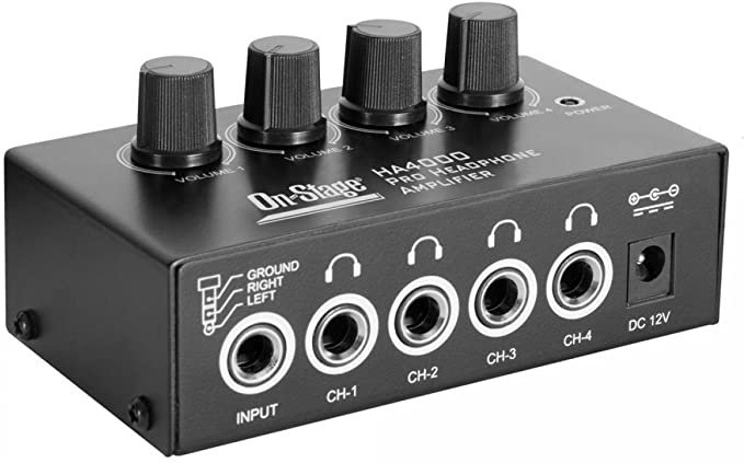 On-Stage HA4000 4-Channel Headphone Amp