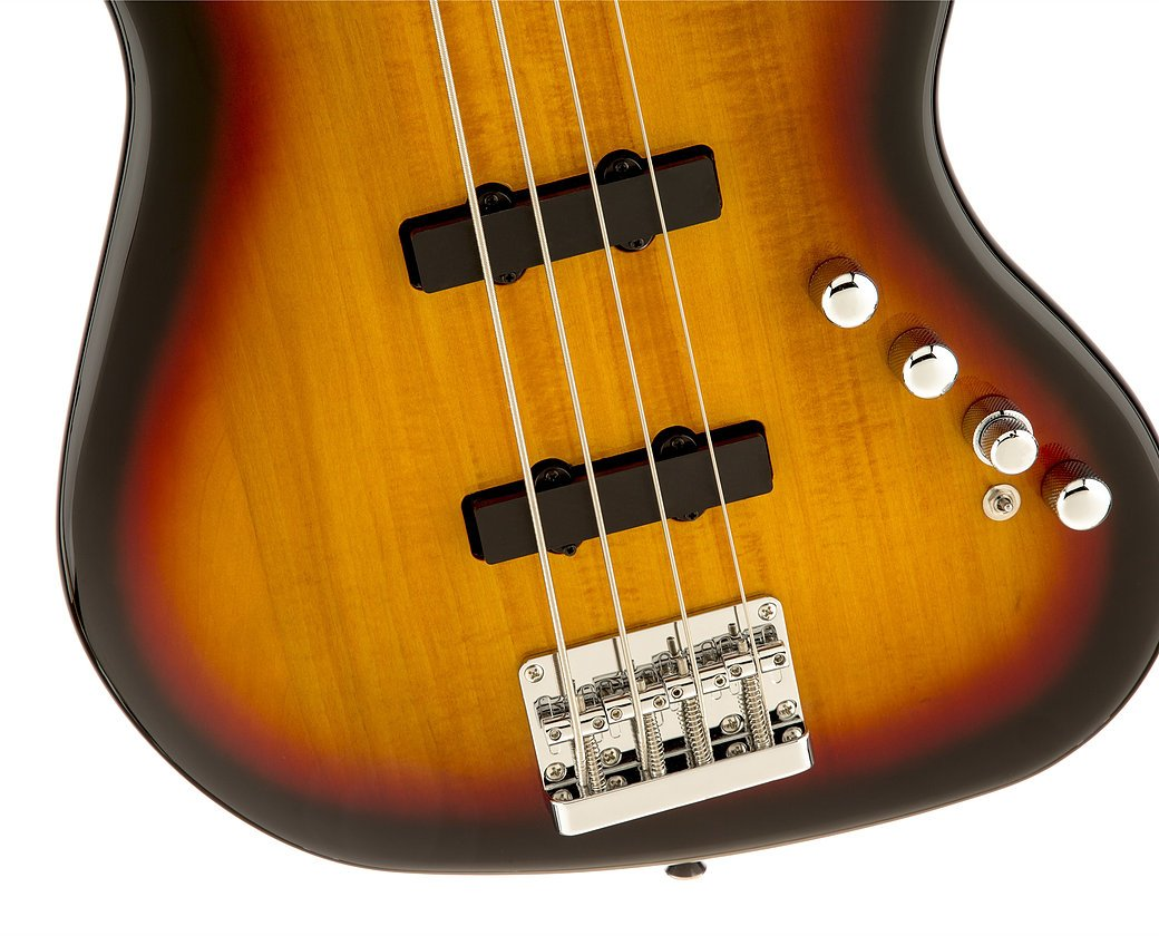 Squier Deluxe Active Jazz Bass - Sunburst