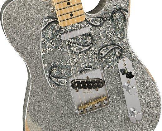 Fender Brad Paisley Roadworn Telecaster- SIlver Sparkle w/ Maple Fingerboard