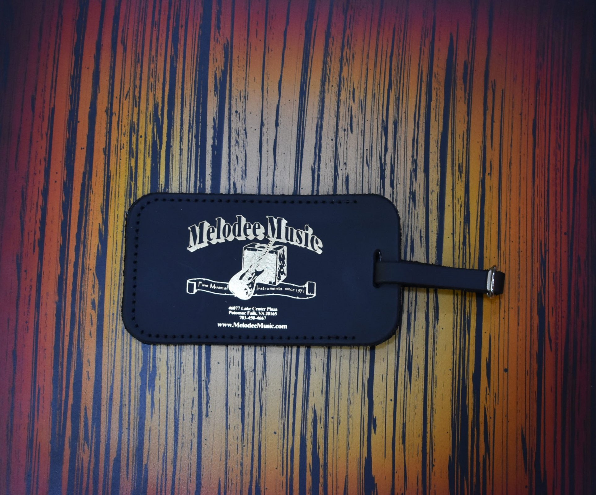 Melodee Music Leather Luggage Tag