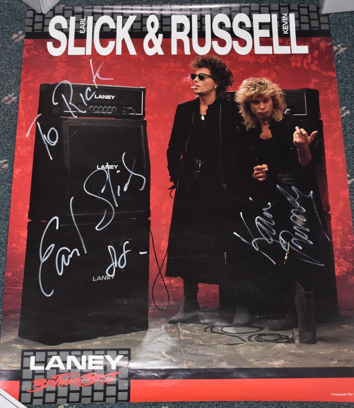 Earl Slick Laney Poster