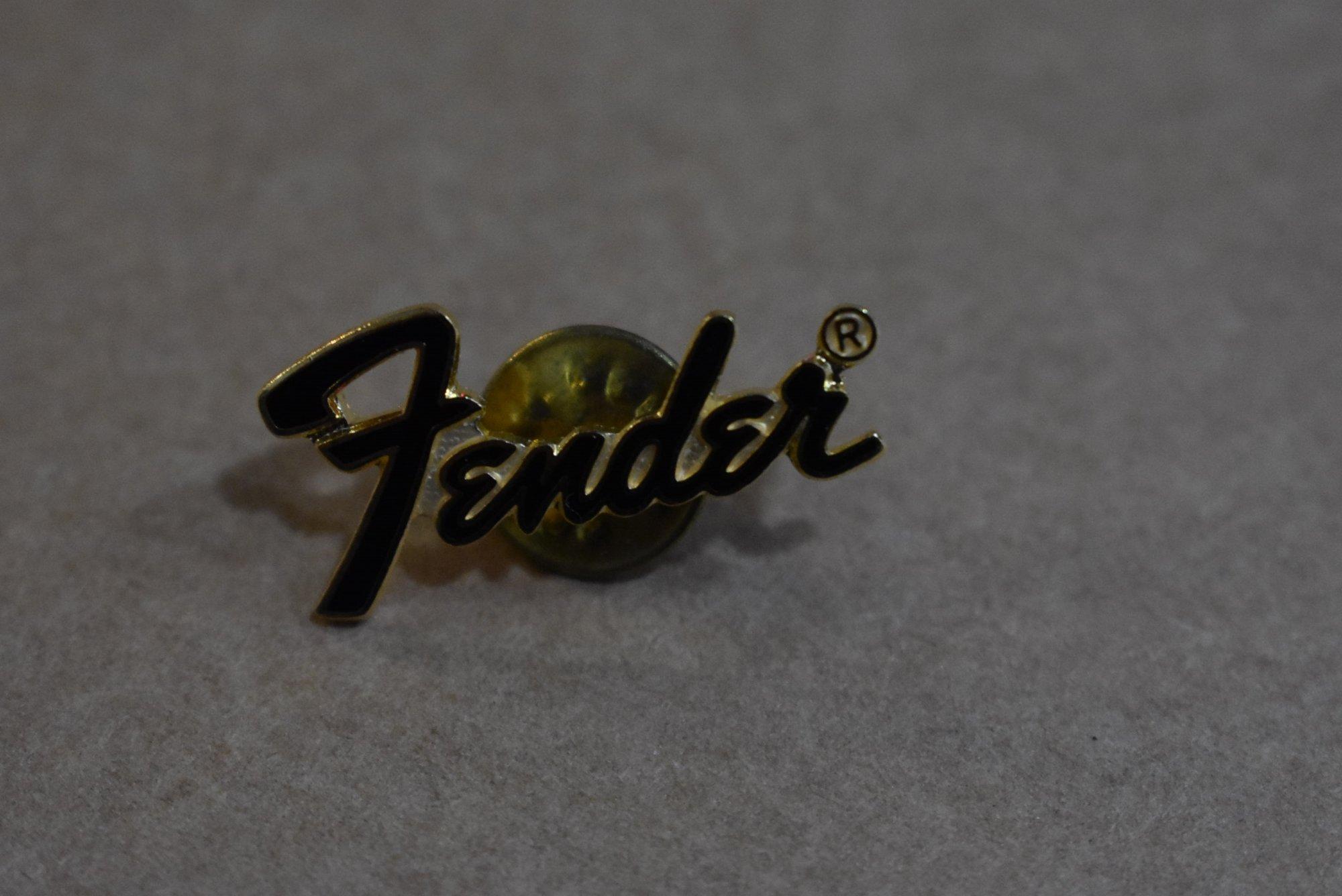 Fender Black Enamel Pin